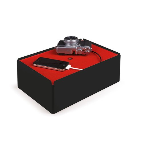 CHARGE-BOX black felt red