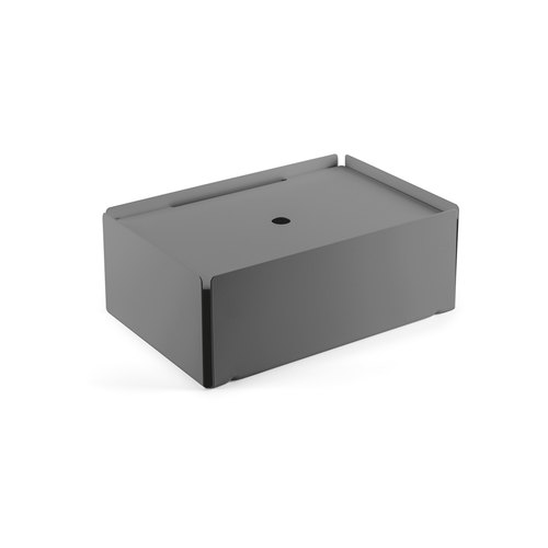 CHARGE-BOX squirrel grey felt black