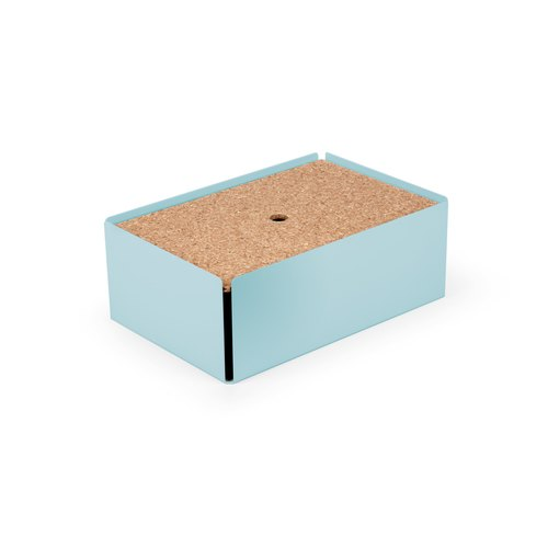 CHARGE-BOX  pastel turquoise cork