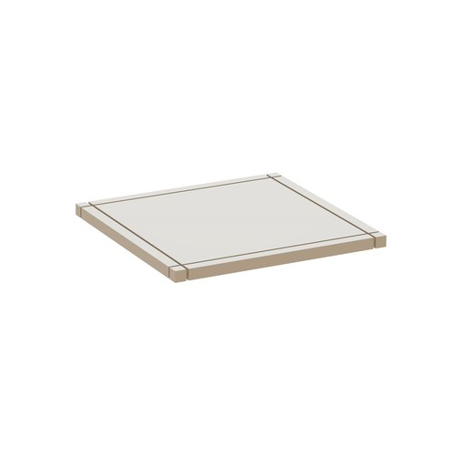 YU Plateau  single / MDF blanc