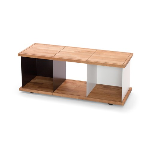 YU SHELF 3x1 / oak tree oiled / black, white