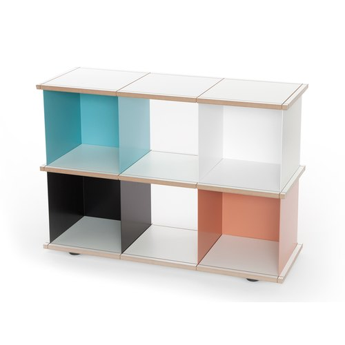 YU SHELF 3x2 / MDF white / white, black, beige red,...