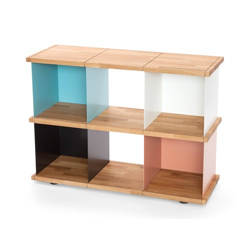 YU SHELF 3x2 / oak tree oiled / white, black, beige red,...