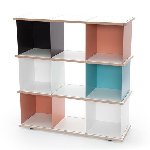 YU SHELF 3x3 / MDF white / white, black, beige red,...