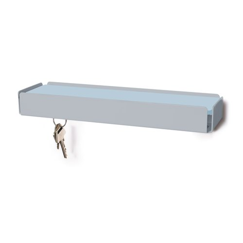 KEY-BOX squirrel grey leather light blue