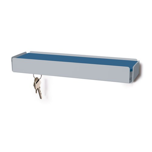 KEY-BOX squirrel grey leather smoke blue