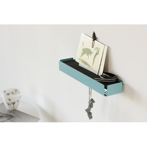 KEY-BOX pastel turquoise felt black