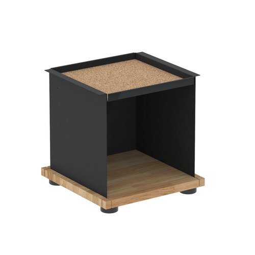 YU TRAY SHELF 1x1 / oak tree oiled / black