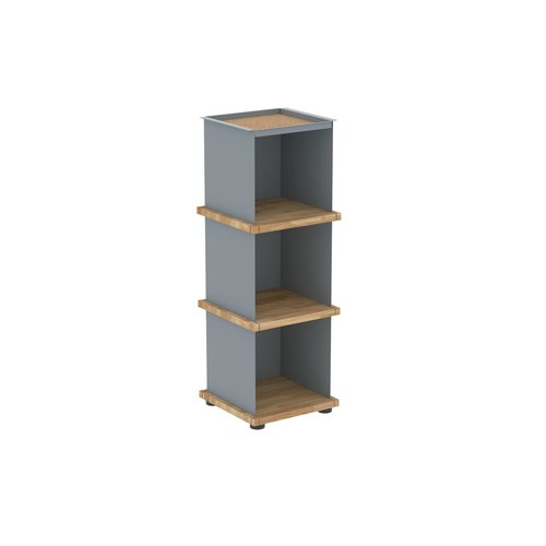 YU TRAY SHELF 1x3 / oak tree oiled / grey
