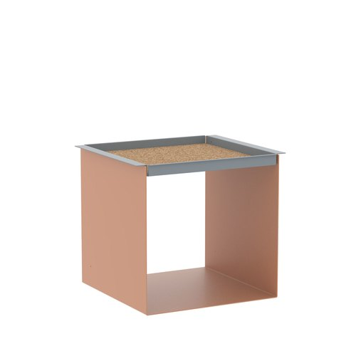 YU TRAY TABLE / beige red, grey