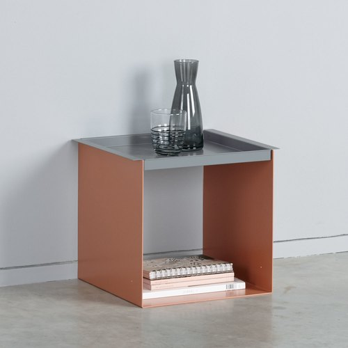 YU TRAY TABLE / beigerot, grau