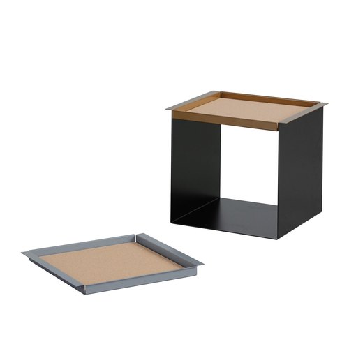 YU TRAY TABLE / rouge beige, gris