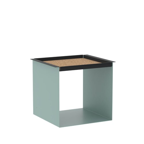 YU TRAY TABLE / turquoise, noir