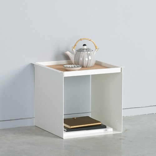 YU TRAY TABLE / weiß, türkis