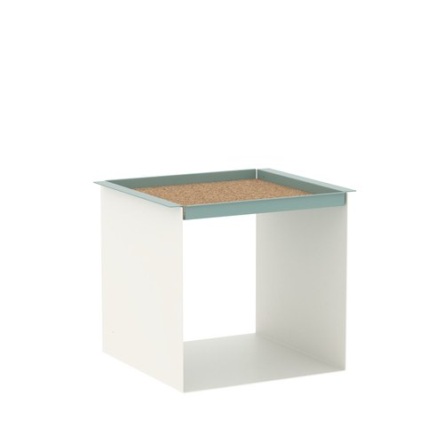YU TRAY TABLE / white, turquoise