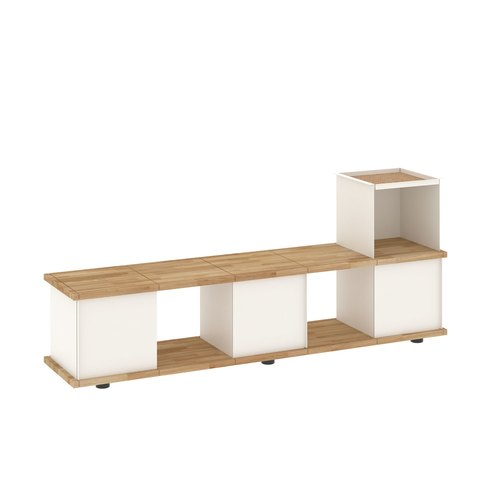 YU BENCH 5x1 / oak tree oiled / white