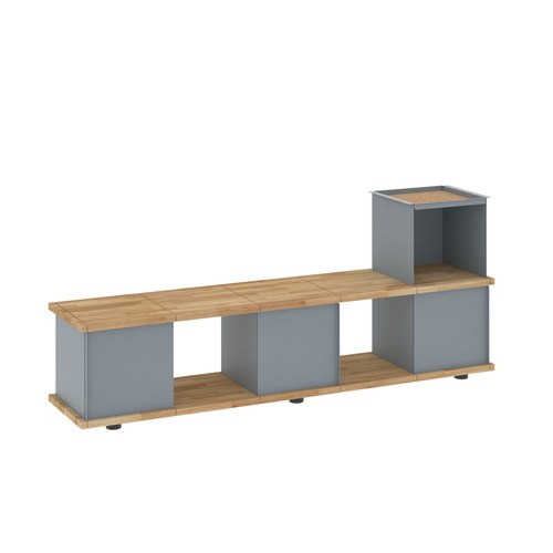 YU BENCH 5x1 / oak tree oiled / grey