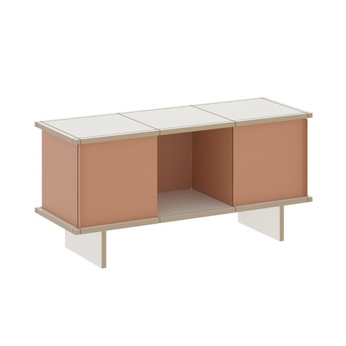 YU SIDEBOARD / 3x1 / MDF white / beige red