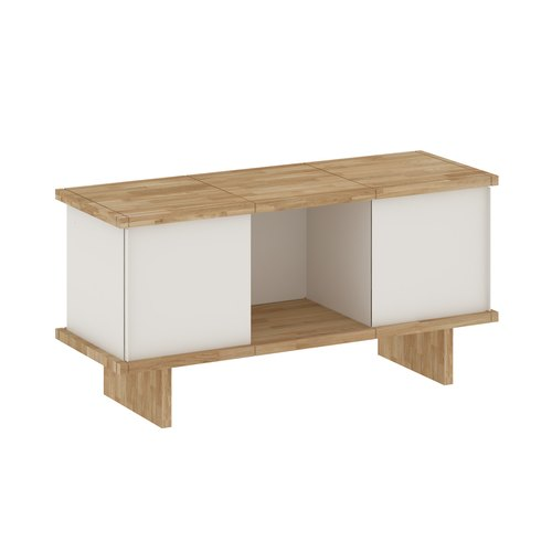 YU SIDEBOARD / 3x1 / oak tree oiled / white
