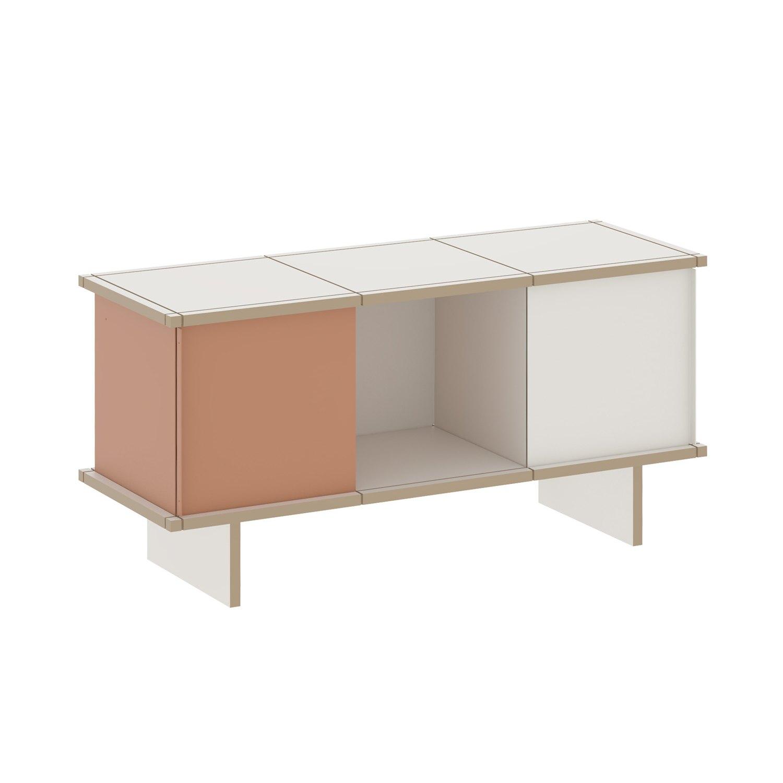 yu sideboard 3x1 eiche ge lt grau. Black Bedroom Furniture Sets. Home Design Ideas