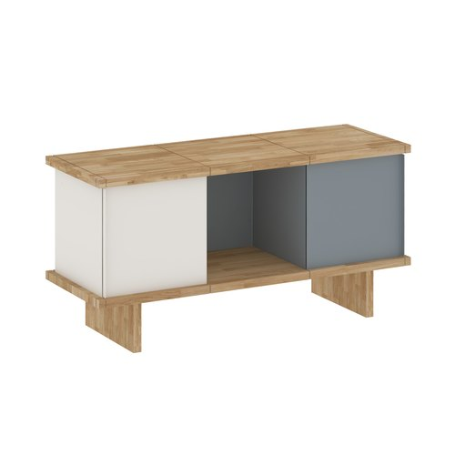 YU SIDEBOARD / 3x1 / oak tree oiled / white, grey