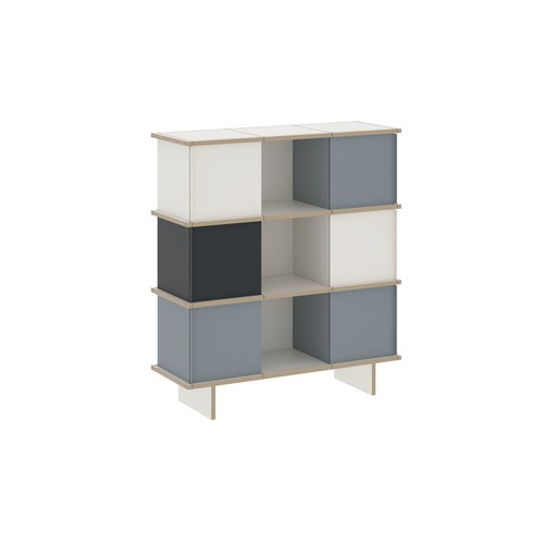YU SIDEBOARD / 3x3 / MDF white / white, grey, black