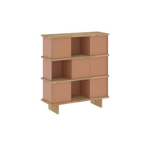 YU SIDEBOARD / 3x3 / oak tree oiled / beige red