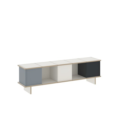 YU SIDEBOARD / 5x1 / MDF white / white, grey, black