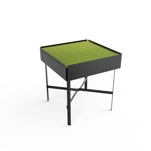 CHARGE TABLE 45 black felt green
