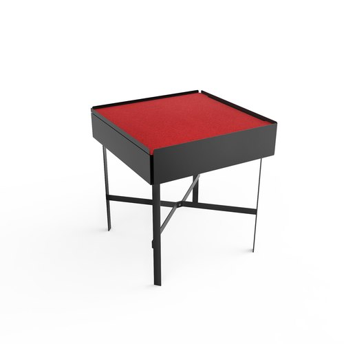 CHARGE TABLE 45 schwarz Filz rot