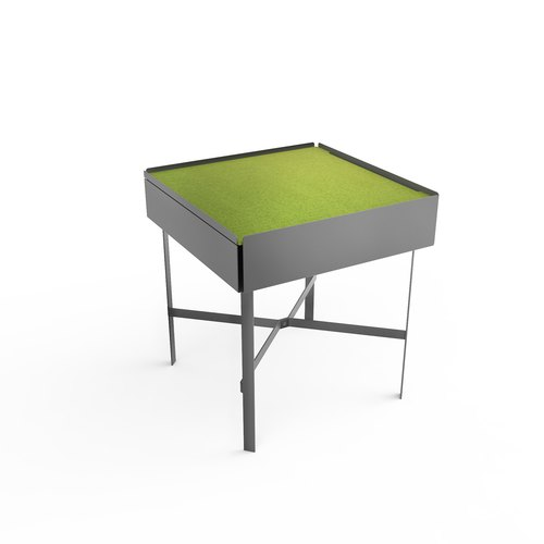 CHARGE TABLE 45 grey felt green