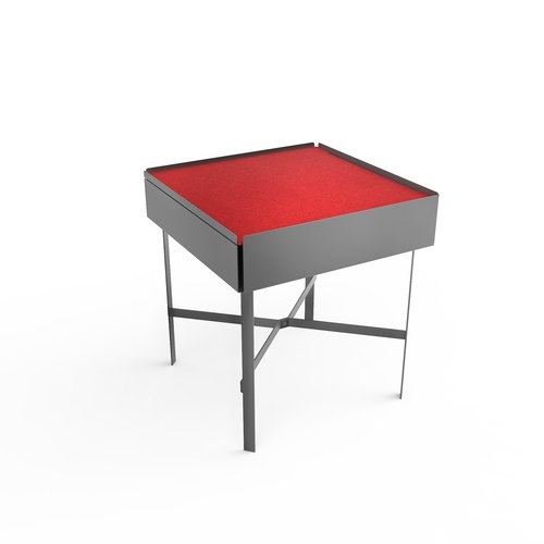 CHARGE TABLE 45 grey felt red