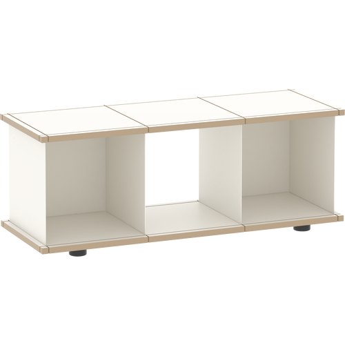 YU SHELF 3x1 MDF white/white