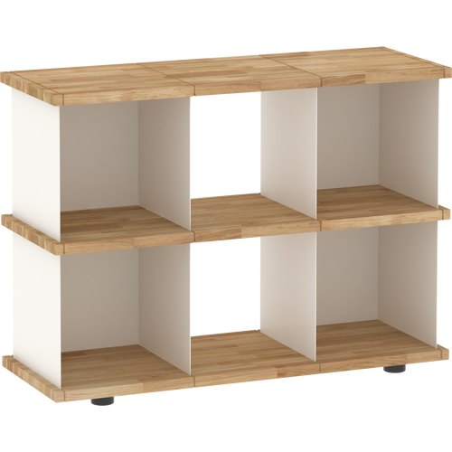 YU SHELF 3x2 oak tree oiled white