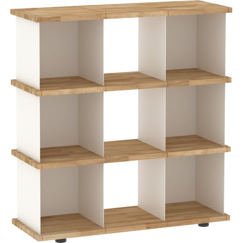 YU SHELF 3x3 oak tree oiled white