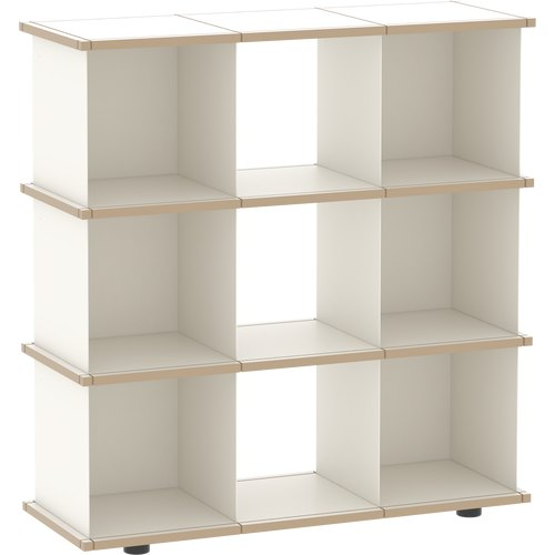 YU SHELF 3x3 MDF white