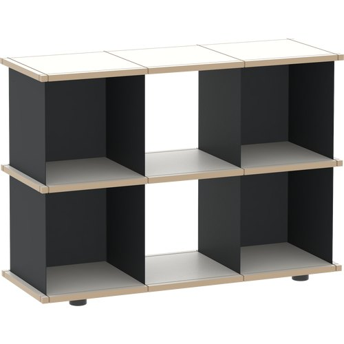 YU SHELF 3x2 MDF black + black