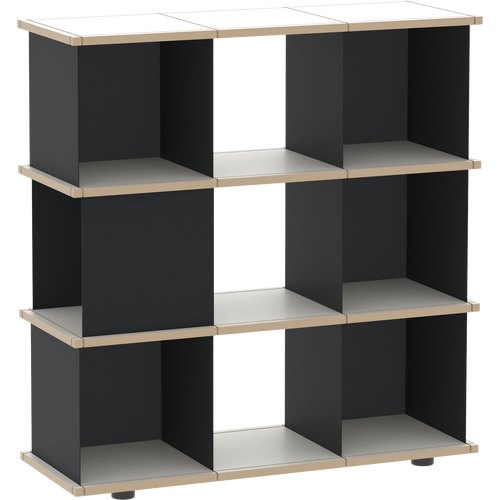 YU SHELF 3x3 MDF black