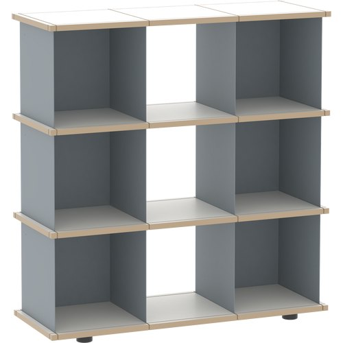 YU SHELF 3x3 MDF grey