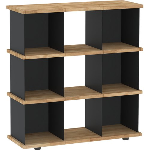 YU SHELF 3x3 oak tree oiled black