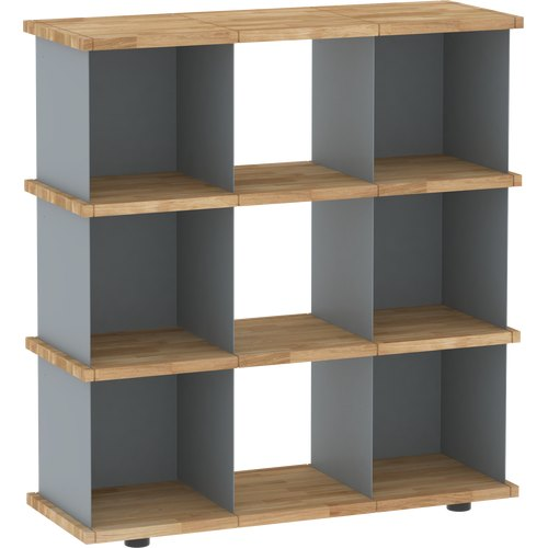 YU SHELF 3x3 oak tree oiled grey