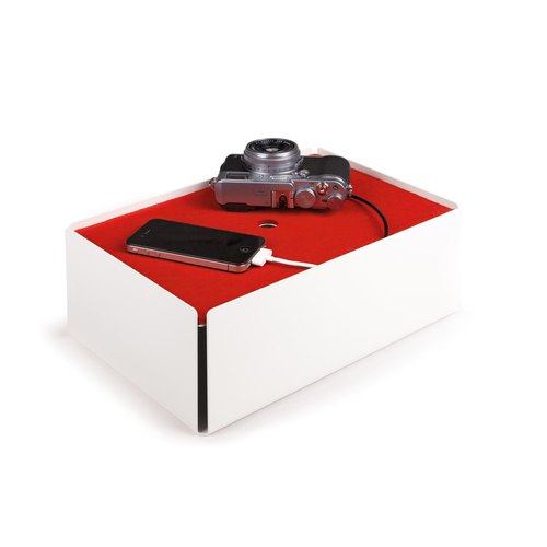 CHARGE-BOX white felt red