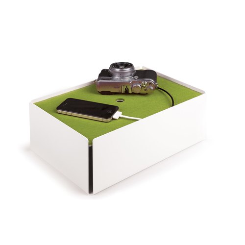 CHARGE-BOX white felt green